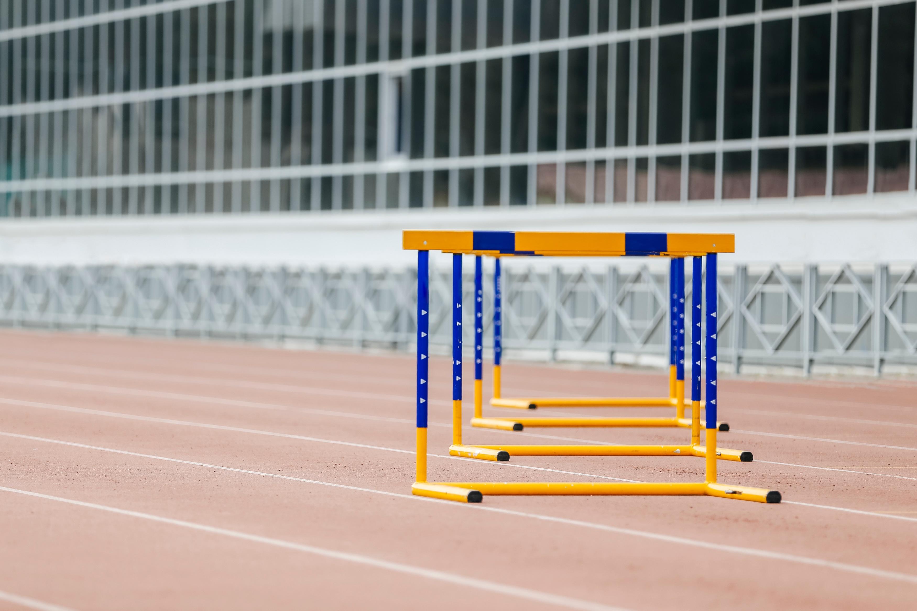 hurdles-at-stadium-P7TQA8S.jpg